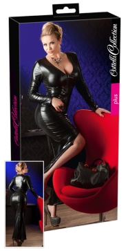 2715163 Wetlook-Kleid lang